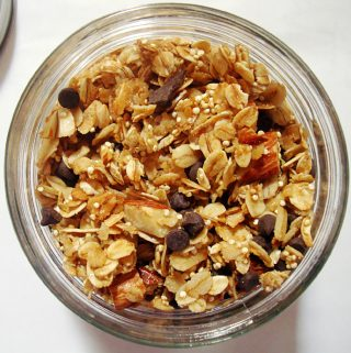 Chocolate and Almond Granola