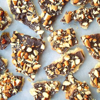 Chocolate and Toffee Moon Bark