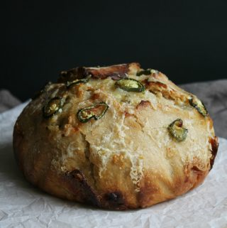 Jalapeno and Cheese Artisan Bread (Overnight)
