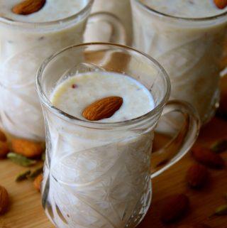 Cardamom Almond Spiced Milk / Badam Harira