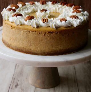 Pumpkin Cheesecake (and some big news!)