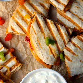 Chicken Tikka Quesadillas