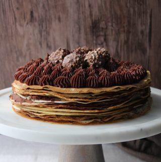 Whipped Ganache Crepe Cake