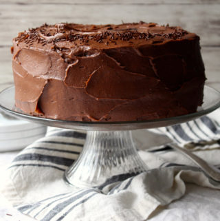 Chocolate Cake with Chocolate Malt Frosting (aka the Ultimate Chocolate Cake)